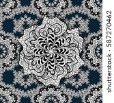 seamless white pattern. vector... | Shutterstock .eps vector #587270462