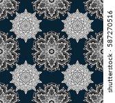damask seamless pattern... | Shutterstock .eps vector #587270516