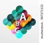 vector circle bubbles modern... | Shutterstock .eps vector #587271122