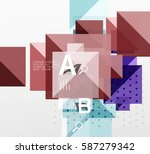 repetition of overlapping color ... | Shutterstock .eps vector #587279342