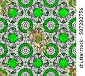 seamless vintage pattern on... | Shutterstock .eps vector #587282756