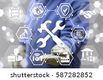 service repair industry 4.0... | Shutterstock . vector #587282852