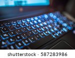 laptop keyboard hi tech backlit | Shutterstock . vector #587283986