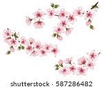 vector illustration of spring... | Shutterstock .eps vector #587286482