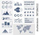 world map infographic. vector... | Shutterstock .eps vector #587286512
