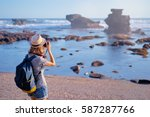 traveling and photography.... | Shutterstock . vector #587287766
