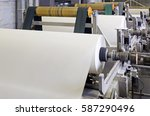 paper and pulp mill factory.... | Shutterstock . vector #587290496