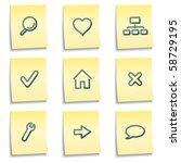 Basic Web Icons  Yellow Notes...