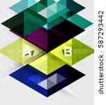 transparent triangle tiles... | Shutterstock .eps vector #587293442