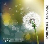 vector dandelion | Shutterstock .eps vector #58730002