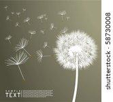 vector dandelion | Shutterstock .eps vector #58730008