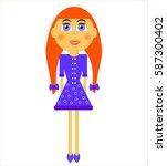 vector illustration of cartoon... | Shutterstock .eps vector #587300402