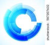 geometric frame  vector... | Shutterstock .eps vector #587307632