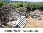 pyramid shaped stone temples at ...