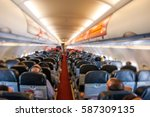 Cabin Of Airplane With...