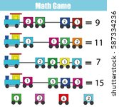 mathematics educational game... | Shutterstock .eps vector #587334236