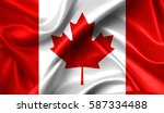 canada flag in the old retro... | Shutterstock . vector #587334488