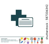 medical documents icon | Shutterstock .eps vector #587336342