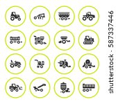 set round icons of agricultural ... | Shutterstock .eps vector #587337446