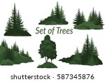 set landscapes  isolated on... | Shutterstock . vector #587345876