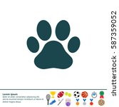 paw print icon. vector   Shutterstock .eps vector #587359052
