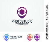 photostudio logo set with... | Shutterstock .eps vector #587364608