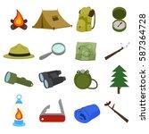 boy scout icon vector design  | Shutterstock .eps vector #587364728