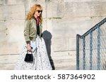 paris october 1  2015. art... | Shutterstock . vector #587364902