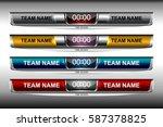 scoreboard broadcast graphic... | Shutterstock .eps vector #587378825