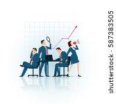 business concept illustration.... | Shutterstock .eps vector #587383505