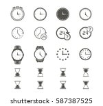 clock icons set. | Shutterstock .eps vector #587387525