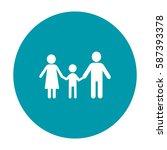 flat icon family. | Shutterstock .eps vector #587393378