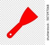 spatula sign illustration.... | Shutterstock .eps vector #587397068