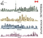 vector illustration of canadian ... | Shutterstock .eps vector #587409806