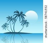 a tropical island landscape...   Shutterstock .eps vector #58741552