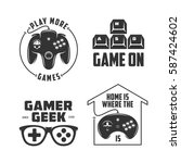 retro video games related t... | Shutterstock .eps vector #587424602