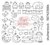 baby shower related design... | Shutterstock .eps vector #587425886