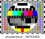 tv color pattern   test card ...