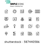 simple set of project... | Shutterstock .eps vector #587440586