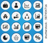 set of 16  statistic icons....