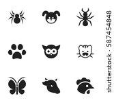 set of 9  animal icons....