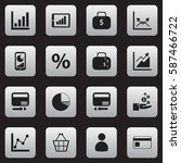 set of 16  analytics icons....