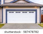 garage door in vancouver ... | Shutterstock . vector #587478782