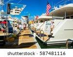 miami beach  fl usa   february... | Shutterstock . vector #587481116