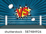 comic boxing and round cont down | Shutterstock .eps vector #587484926