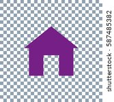 home icon on transparent...