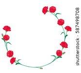 carnation mother's day... | Shutterstock .eps vector #587498708