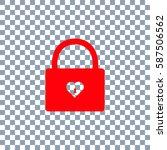 lock icon on transparent...