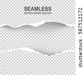 seamless ripped paper and... | Shutterstock .eps vector #587512172