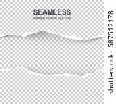 seamless ripped paper and... | Shutterstock .eps vector #587512178